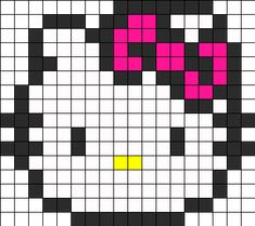 Hello Kitty Perler Perler Bead Pattern