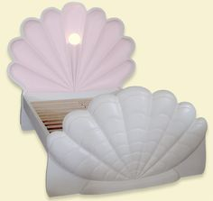 Olivia's Little Mermaid Collection Shell Bed