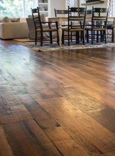 This Heartland Barn Wood Reclaimed Wide Plank Flooring - Skip Planed is just one of the custom, handmade pieces you'll find in our floor & rugs shops. Pine Wood Flooring, Diy Wood Floors, Installing Hardwood Floors, Real Wood Floors, Engineered Hardwood Flooring, Diy Flooring, Wood Planks, Pine Floors, Wide Plank Laminate Flooring