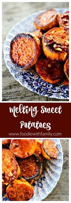 Melting Sweet Potatoes recipe: Deeply caramelized, flavourful slices of sweet potatoes so tender they yield to the edge of a spoon. via @foodiewithfam