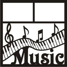 EZLaserDesigns : Music Piano Keys Title  scrapbook overlay layout