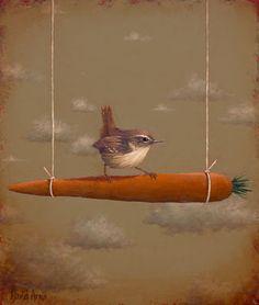 Here's another fun idea to actually make for the birds.....Artodyssey: David Arms