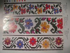Gallery.ru / Фото #33 - Борщівські мотиви... - widpuckau Cross Stitch Borders, Cross Stitching, Cross Stitch Patterns, Knitting Charts, Knitting Patterns, Beaded Necklace Patterns, Palestinian Embroidery, Folk Embroidery, Small Flowers