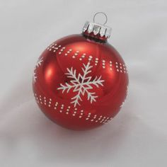 Httpherrschners500img5138310000g but do it yourself snow flake christmas ball ornaments with white glitter snowflakes glass christmas ball solutioingenieria Choice Image