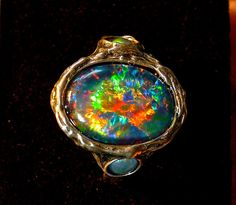 natural solid lightning ridge opal ring sterling silver mens unisex twist accents dolphin potch scenic opal ring black opal jewelry