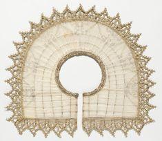 Vintage Women Rebato Rabato Detachable Lace Collar White Decorative Collar