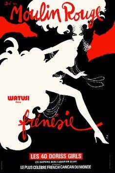 Classic Vintage Moulin Rouge Poster Prints