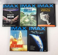 Lot 5 iMax Space DVDs Blue Planet Destiny in Space Columbia MIR Dream is Alive #iMaxWarnerBros