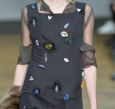 jewel embellishments take on a fun aesthetic for #AW14 #PFW celine