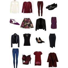 Wardrobe sudoku in berry, black and cream. by elizabethtennent on Polyvore featuring polyvore, fashion, style, American Eagle Outfitters, Jaeger, French Connection, Karen Millen, Elizabeth and James, OPUS Fashion, Balenciaga, Girls On Film, Calvin Klein, Maticevski, AG Adriano Goldschmied, Jessica Simpson, Lipsy and Sole Society