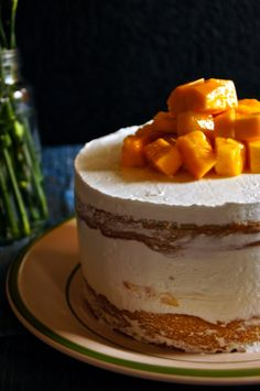 Simple Mango Cake with Hidden Mango Chunks