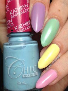 The Nailinator - Chic Pastel Collection Skittles The Chic, Nail Colors, My Nails, Nail Polish, Pastel, Nail Art, Floral, Beauty, Collection