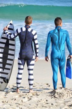 A surfer and a diver...swimswits by Shark Attack Mitigation Systems (SAMS)