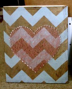Chevron Heart String Art