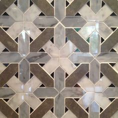 Gorgeous tile pattern - would love this in a bathroom - via Design Manifest