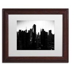 Philippe Hugonnard 'Pixels Print Manhattan' Matted Framed Art