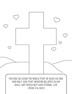 This FREE Valentine's Cross Coloring Page is perfect to use in Children's Ministry, Children's Church, or Sunday School, as a reminder of Jesus' love for us. Free Bible Coloring Pages, Valentines Day Coloring Page, Printable Coloring, Sunday School Lessons, Sunday School Crafts, Childrens Ministry Deals, Kids Ministry, Ministry Ideas, Sunday School Coloring Pages