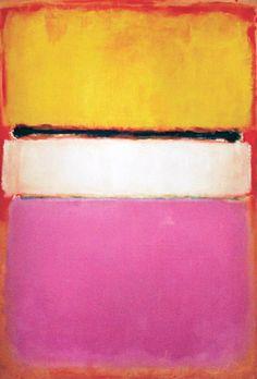 Centro Branco (Amarelo, Pink e Lavanda sobre Rosa), 1950 Mark Rothko, vendida por US$ 72,8 milhões, em 2007