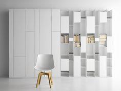 Librería composable modular RANDOM CABINET Colección Random by MDF Italia | diseño Neuland Industriaedesign