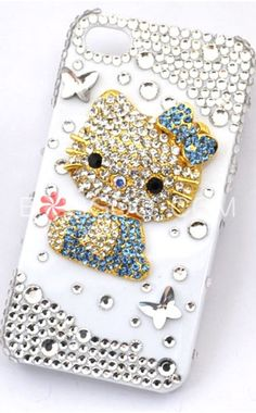 Hello Kitty Series Rhinestones IPhone 4 Cell Phone Case