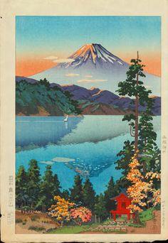 Tsuchiya Koitsu: Lake Ashi in the Hakone Hills in Early Autumn