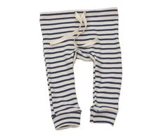 everyone's favorite leggings, super soft and slim-fitting with a twill tape drawstring and circle gusset on the seat.all of our organic cotton products are made ethically in the usa from start to finish, from the cotton, through the custom low-impact dying and finally to the sewn garment.natural with blue stripe3m, 6m, 12m, 18m, 2/3, 4/5, 6/7100% organic cottonmade in usa