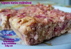 Hozzávalók:  500g Pilos zsírszegény túró 50g zsírtalanított kókuszliszt 2db tojás 150g málna Vanília aroma 1 kk. sütőpor DW édesítő ízl...
