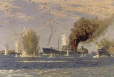 The Tanker 'Ohio' in a Malta Convoy: August 1942 by Norman Wilkinson