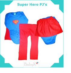 For your little Super Hero! Our biggest seller! Cute Little Baby, Little Babies, Pjs, Boy Outfits, Custom Made, Pajama Pants, Superhero, Swimwear, Color