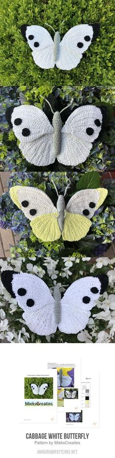 Cabbage White Butterfly amigurumi pattern