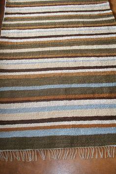 Flatpile striped mohair carpet