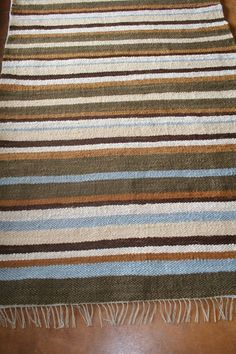 Flatpile striped mohair carpet