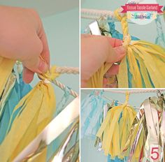 Tissue Tassel Garland DIY from Green Wedding Shoes