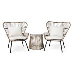 Latigo Rattan Patio Chat Set Threshold by Target Havenly is part of Target patio furniture - Shop this product on Havenly, where you can also browse similar products across other brands and even get interior design help to transform your space Target Patio Furniture, Wicker Patio Furniture, Home Furniture, Rustic Furniture, Furniture Layout, Antique Furniture, Furniture Stores, Cheap Furniture, Furniture Ideas