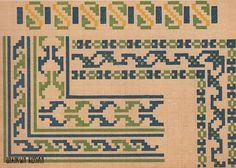 Схемы вышивки крестом для бордюров или каймы. СССР, 1939. Old Soviet cross stitch designs for borders or braids. USSR, 1939.