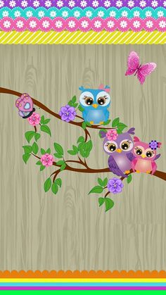 Cute Owl wallpaper x Cute Owls Wallpaper, Aztec Wallpaper, Spring Wallpaper, Diy And Crafts, Arts And Crafts, Owl Cartoon, Owl Pictures, Pretty Wallpapers, Owl Art