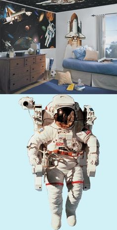 NASA Astronaut Peel And Stick Wall Mural   Wall Sticker Outlet Part 27