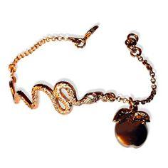 """Bracelet laiton plaqué or rose """"Eve"""""""