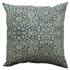 Down pillow with a contemporary links motif.    Product: PillowConstruction Material: Polyester cover and down fi...