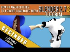 ▶ How To Attach Clothes To A Rigged Character Mesh In Blender 2.73 - YouTube