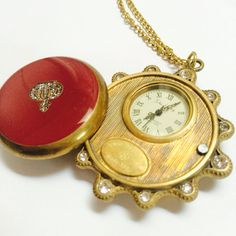 Copper Vintage pocket watch Mechanical pocket by Victorianstudio, $54.98