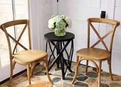 We're all heart eyes for our wooden farm chairs.