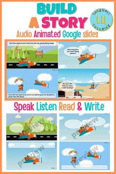 This interactive animated role-play story activity with AUDIO is aimed at kindergarten to elementary students to develop their speaking, listening, reading and writing skills. Students will have the chance to respond to questions and statements within each animated scene. Students will narrate the story by writing in the blank dialogue boxes and speech bubbles. The second part of the activity is for the student to work alone or with a partner, to write their own story. 4th Grade Ela, Third Grade Writing, Kindergarten Classroom, Kindergarten Activities, Build A Story, Common Core Ela, English Resources, Teacher Created Resources, Teacher Favorite Things