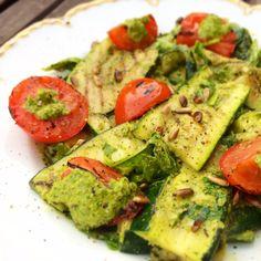 zucchinisallad, vegan, mjölkfritt