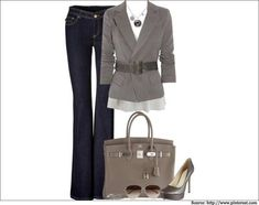 Grey-jacket-Business casuals for women