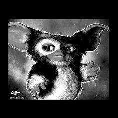 Print 8x10  Gizmo  The Gremlins Horror Comedy Pop Art by chuckhodi