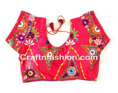 Indian Ethnic Embroidered Blouse - Ready made Wedding wear banjara Blouse