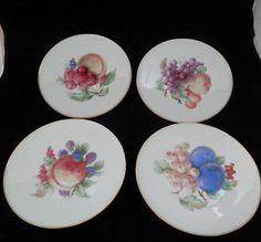 Vintage JKW Fine Porcelain Decorative Plate Fruit Western Germany