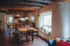 I'm in love...the beams, the thick plastered walls, the wood floors, everything!