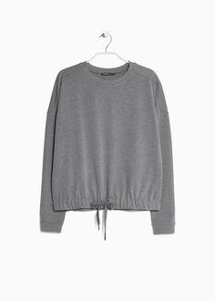 €12,99 - Suéter cordão cintura - Mango